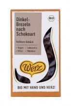 Dinkel-Brezeln nach Schokoart, Vollkorn-Gebäck